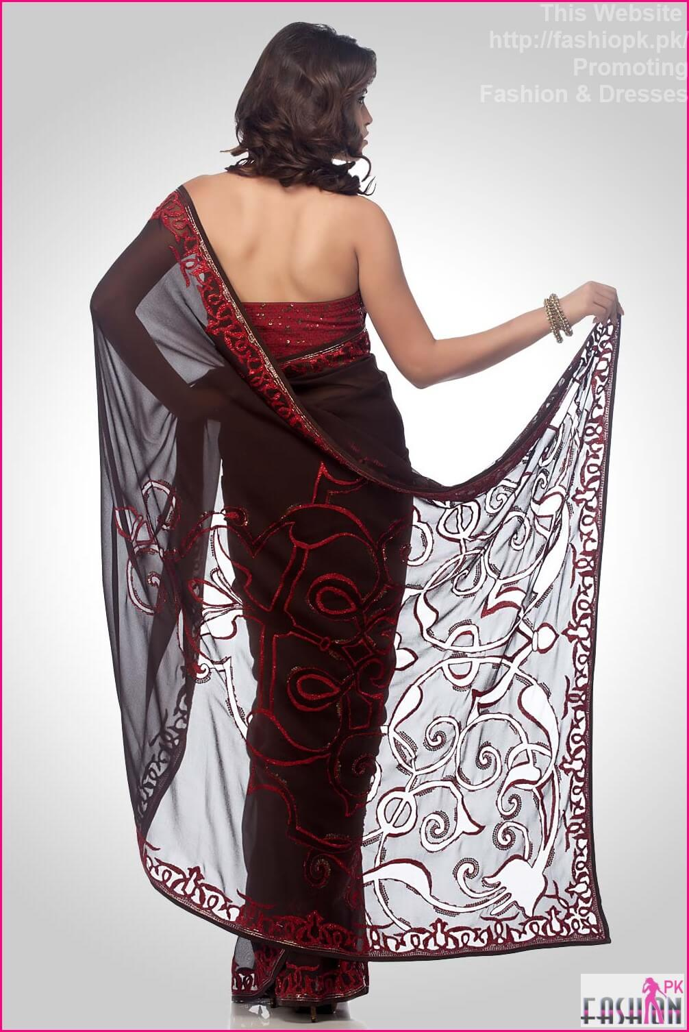 2014 Fashion Dresses In Pakistan New Trend in Sarees