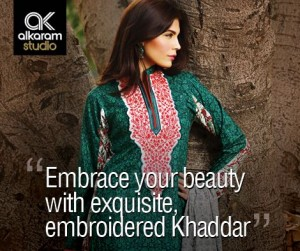Alkaram A Glamrous Fall Winter-Kashmiri Collection 2014-15