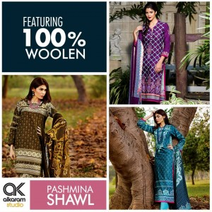 Alkaram A Glamorous Fall Winter Pashmina Shawl Collection 2014-15