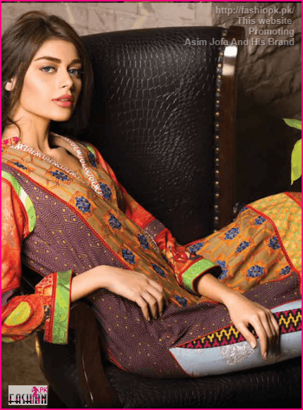 Asim Jofa Featuring a dynamic embroidered panel For Womens And Girls