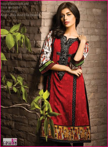 Asim Jofa Latest Winter Black Shirt With Black Contrast Amazing Touch