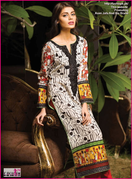 Asim Jofa New Fall Winter Collection 2014-15 African Shirt Inspired Design