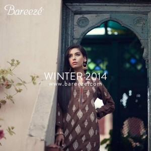 BAREEZE FALL WINTER COLLECTION 2014 KARANDI LAWN WITH PRICES