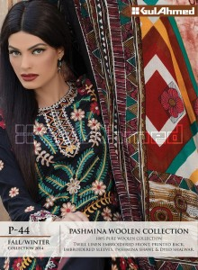 Gul Ahemd P-44 Fall Winter Collection 2014-15 Pashmina Woolen Collection