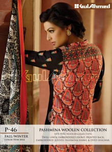 Gul Ahemd P-46 Fall Winter Collection 2014-15 Pashmina Woolen Collection