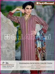 Gul Ahmed Winter Pashmina Woolen Collection 2014-15