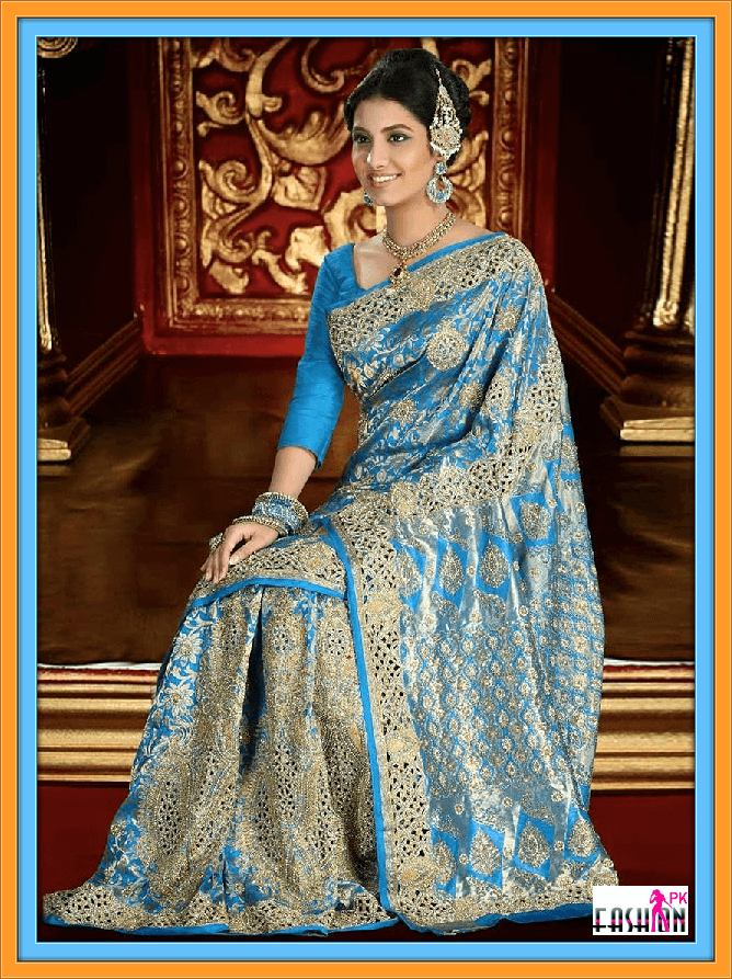 Latest Brocade Bridal Saree