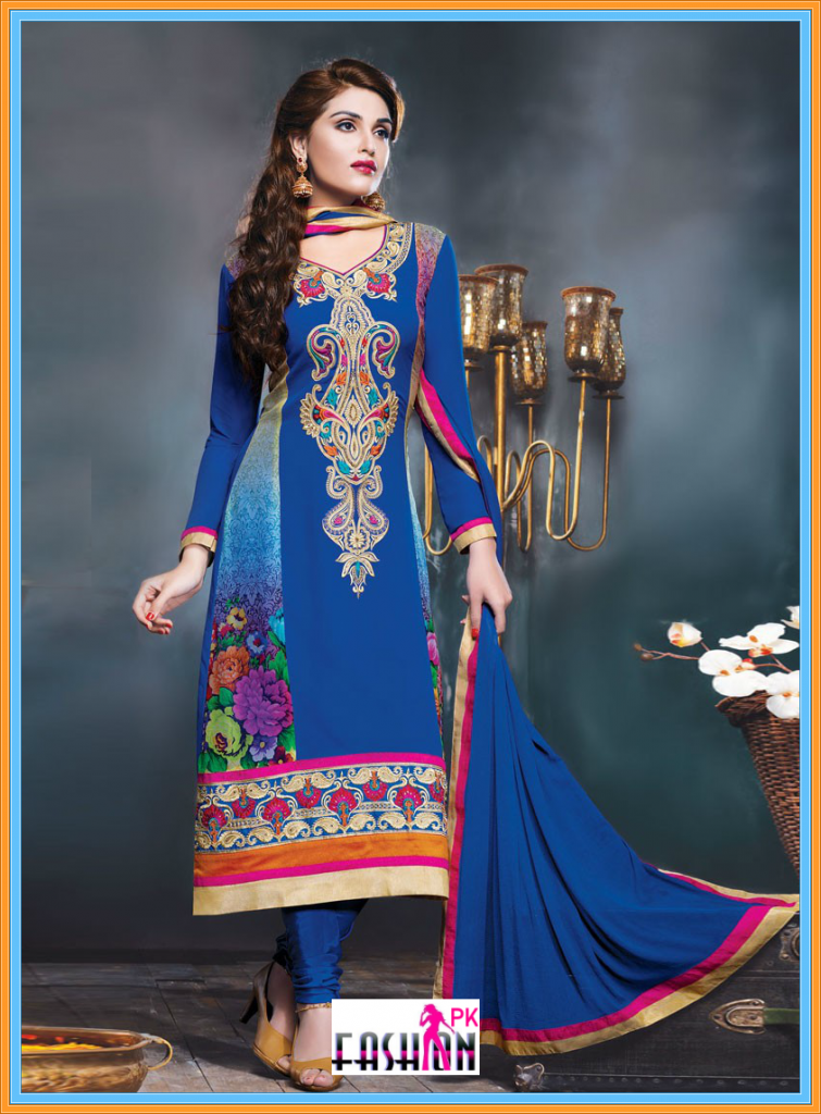 Lovely Resham And Lace Work Party Dress