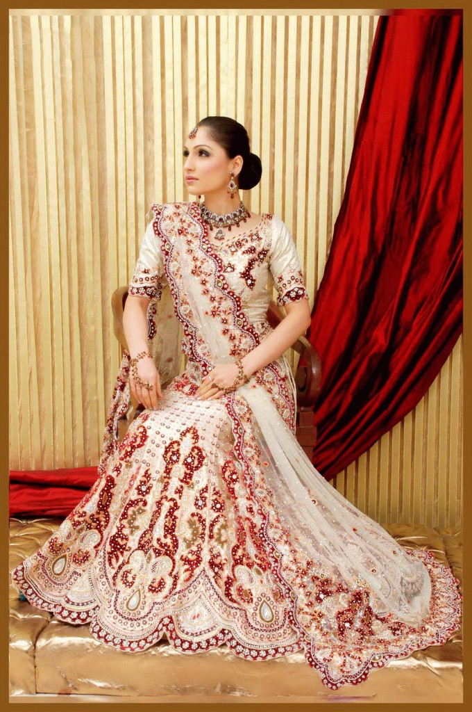 Pakistani Bridal Couture Wedding Dresses 2014