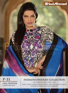 Pashmina Woolen Collection By Gul Ahemd P-31 Fall Winter Collction 2014-15-1