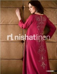 Red Kurta & Tits Long Length Fashion Design